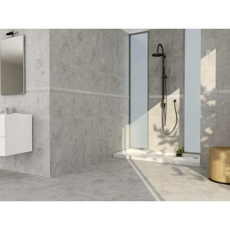 Aspen Gris | Grey Matt Marble Bathroom Wall Tile | Tommy Tiler