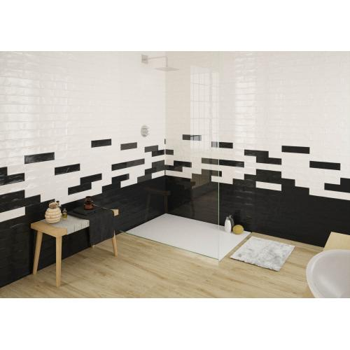 Black and White gloss 300mm x 75mm