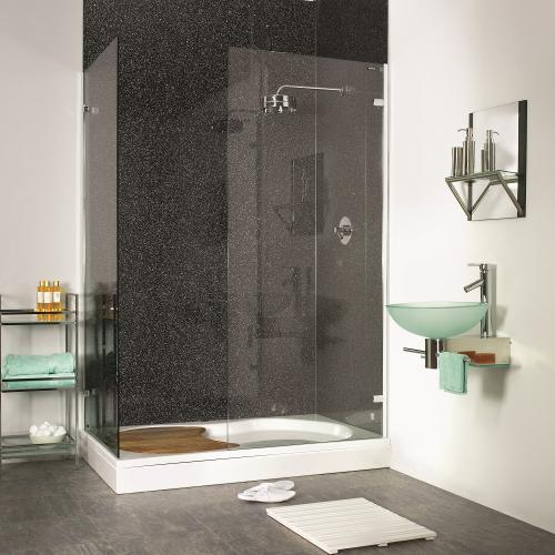 PVC Large Splash Panel Black Crystal  1200mm x 2400mm x 10mm