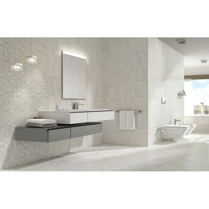 Fiji Stone White Wall Tile 250mm X, White Stone Tile Bathroom