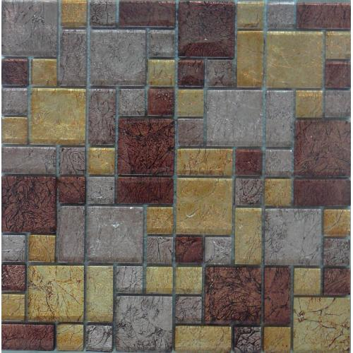 Mosaic Rusty Aztec Pattern Tile 300mm x 300mm