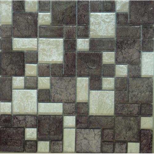 Mosaic Silver Grey Glass Tile 300mm x 300mm