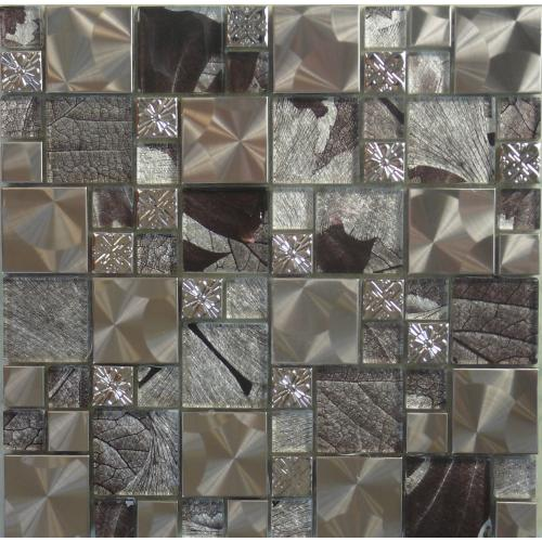 Mosaic Silver Saturn Tile 300mm x 300mm