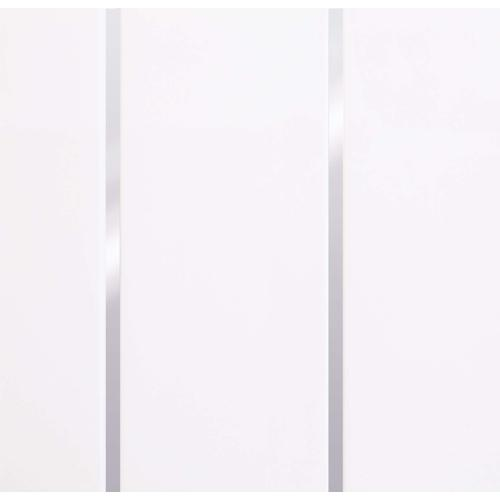 PVC Ceiling and Wall Cladding White Chrome Embedded  2600mm x 250mm